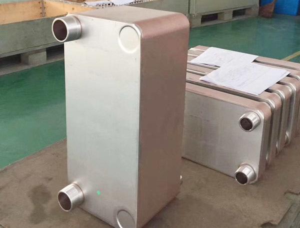 钎焊板式换热器细节图