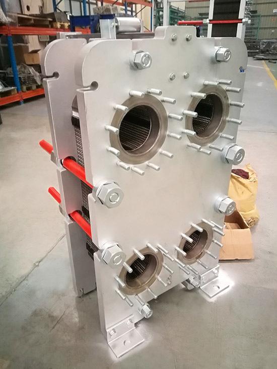 高压船用钛板换热器