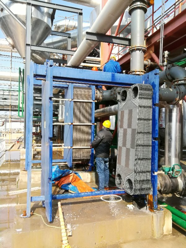浓硫酸板式换热器维修